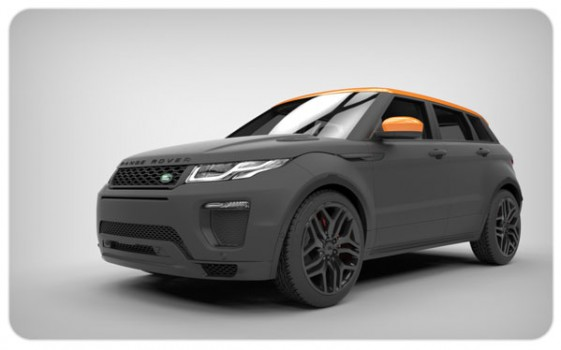 matte black orange gloss wing mirror wraps evoque