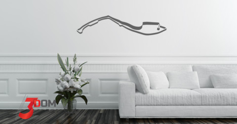 Wall Vinyl F1 Race Tracks