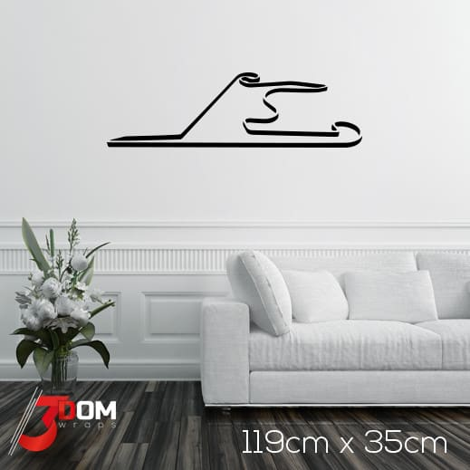 Race Track Wall Art >> Wall Decal F1 Race Track Shanghai Buy Online