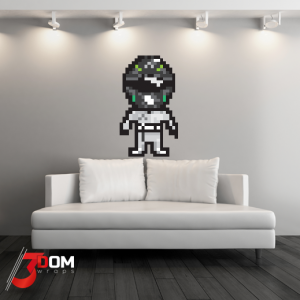 Pixel Art Wall Art Decal - Rosberg F1 | 3Dom Wraps