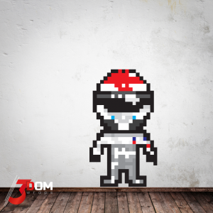 Pixel Art Wall Art Decal - Sutil F1 | 3Dom Wraps