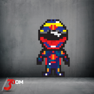 Pixel Art Wall Art Decal - Vergne F1 | 3Dom Wraps