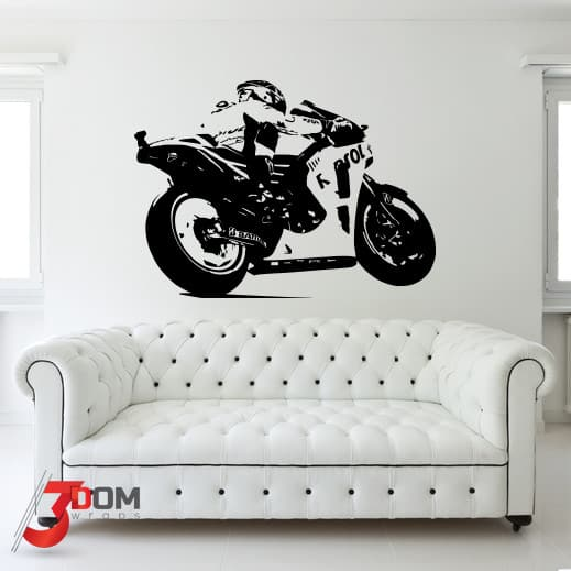 wall decal vehicles - motogp side dark | buy online