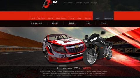 Responsive Motorsport Website Design | #MakeItStick | 3Dom Wraps