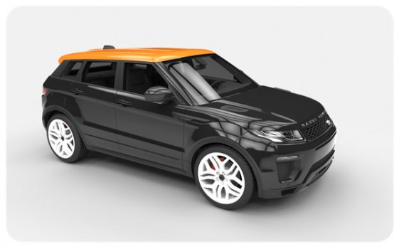 black gloss orange roof wraps evoque