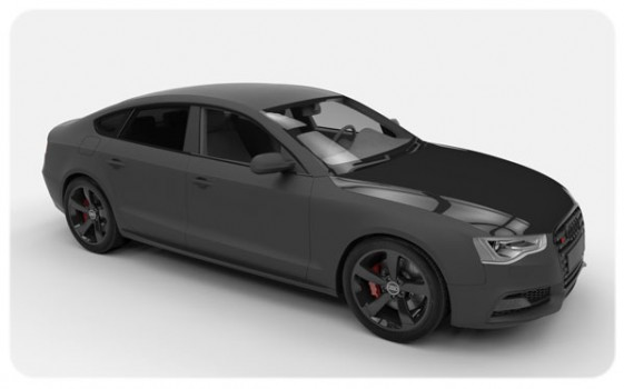 Gloss black bonnet wrap matte black audi S5