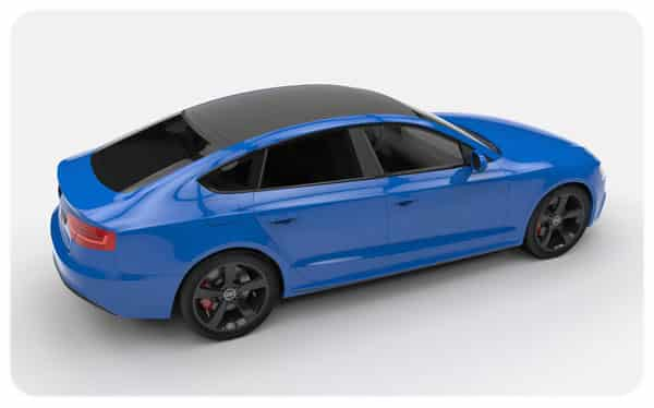 ... Matte Black Roof Wraps Gloss Blue Audi S5