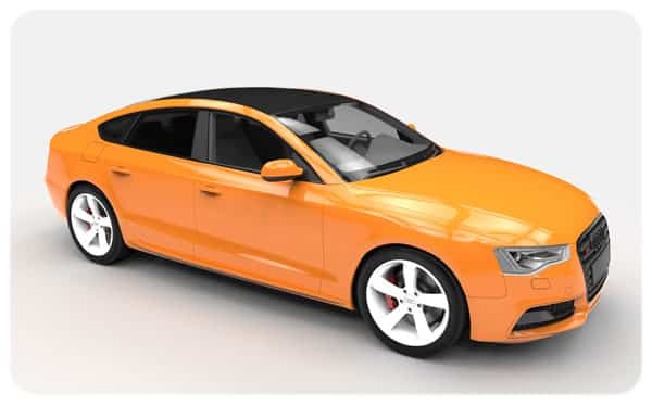 orange gloss black roof wrap audi s5