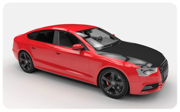 Red Gloss Black Bonnet Wrap Audi S5