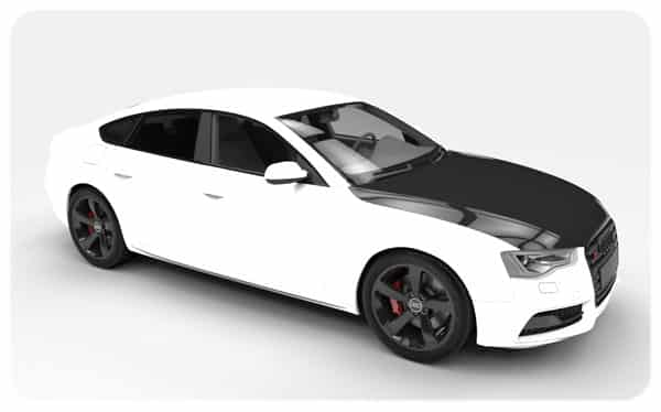 White Gloss Black Bonnet Wrap Audi S5