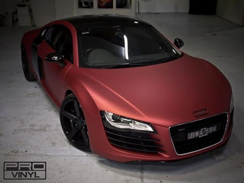 Matte Paint Car: Audi Vinyl Car Wrapping