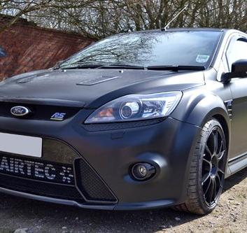 Black Ford Focus RS Satin Car Wrap