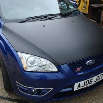 Ford Focus ST Carbon Fibre Vinyl Bonnet Wrap