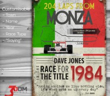 Classic Motorsport customisable sign art – Monza