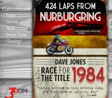 Classic Motorsport customisable sign art – Nurburgring